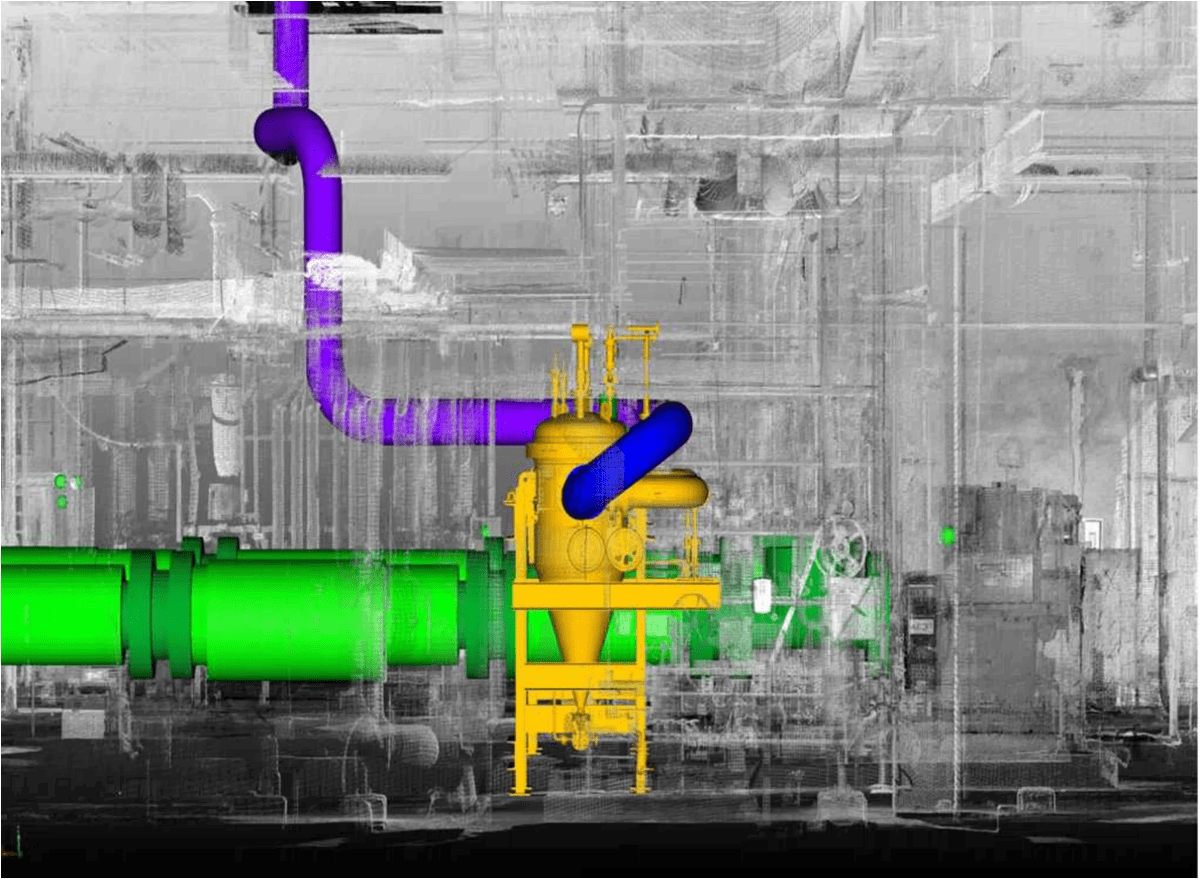 Using Laser Scanning For Planning Pipe Routes