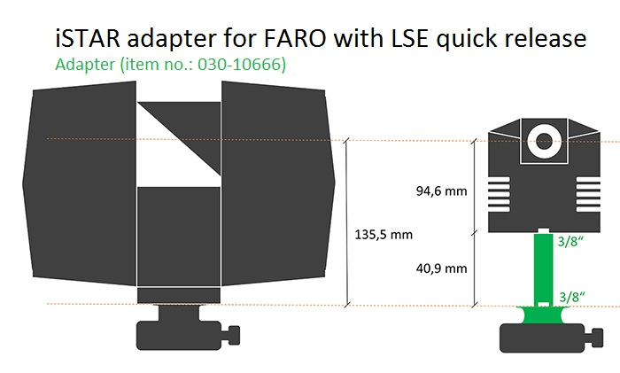 iSTAR adapter for FARO with LSE quick release.