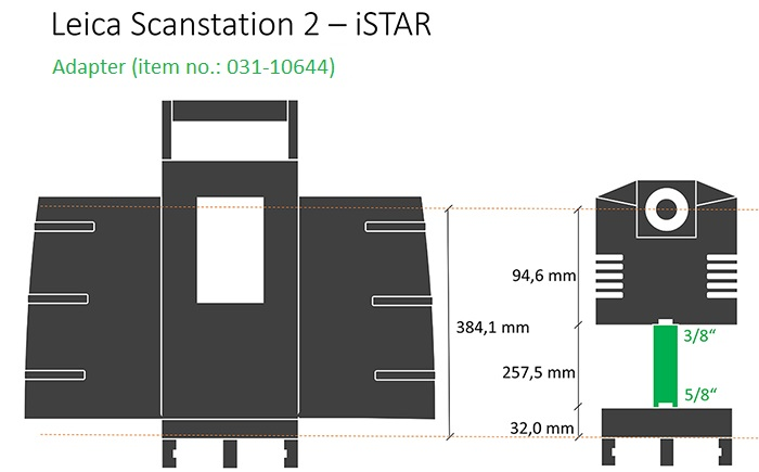 iSTAR adapter for Leica Scanstation 2.