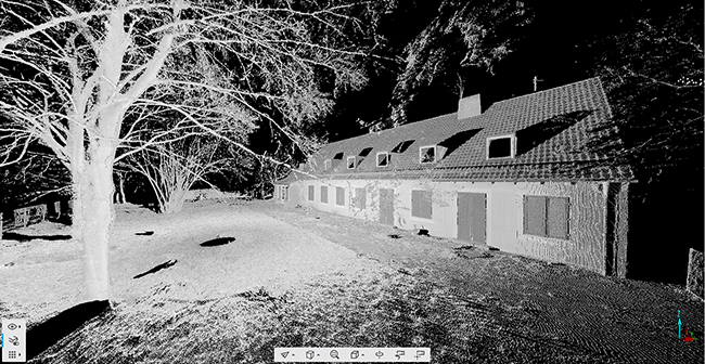 Single point cloud of a FARO scan.