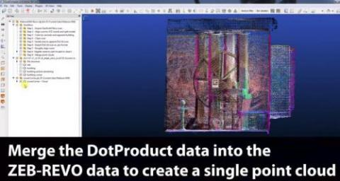 Video - Merge ZEB-REVO and DPI-8X point clouds | Laserscanning Europe