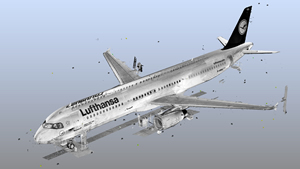 Point cloud of Airbus A321. Source: Lufthansa.