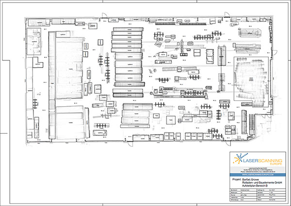 Sketched plan - Hall 1