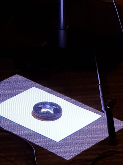 Scanning a police badge