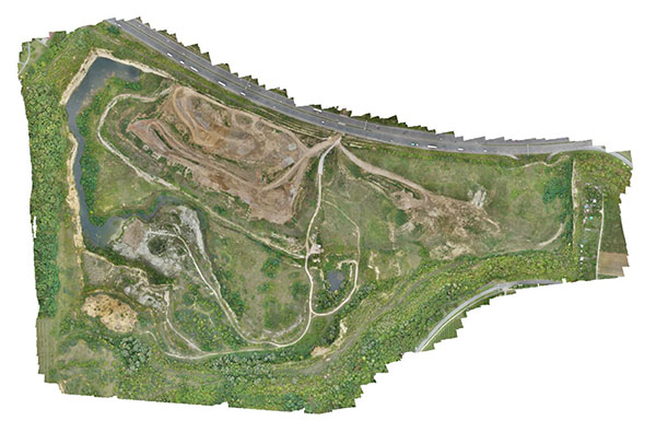 Aerial image of the quarry