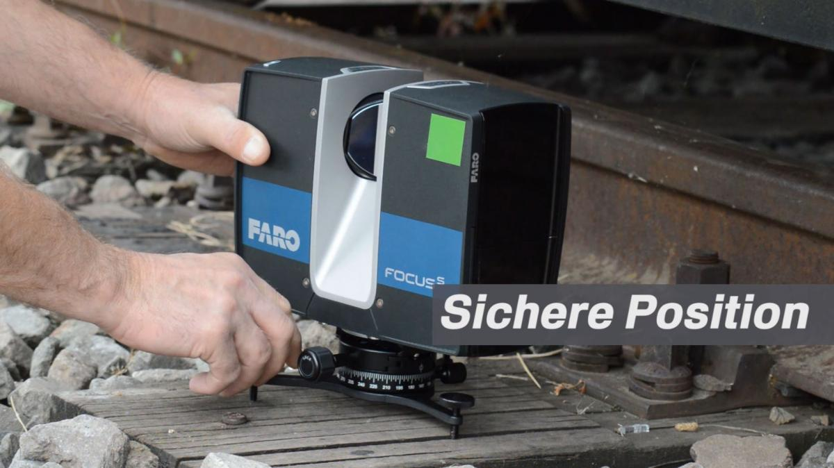 Sichere Position für Ihren 3D-Laserscanner.